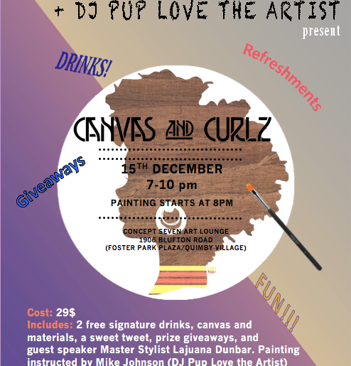 Event: Canvas & Curlz